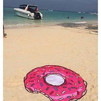 Коврик пляжный подстилка Пончик, фото 3