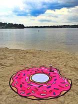 Коврик пляжный подстилка Пончик, фото 2