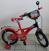 Детский велосиппед двухколёсный Формула рейсеров для мальчика крассный