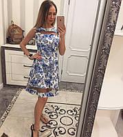 Платье с отделкой из фатина