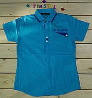 Стильная рубашка ,шведка  для мальчика рост 110-128, фото 1