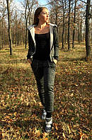 Очень теплый зимний костюм утепленный мехом для прогулок и спорта лого Chanel
