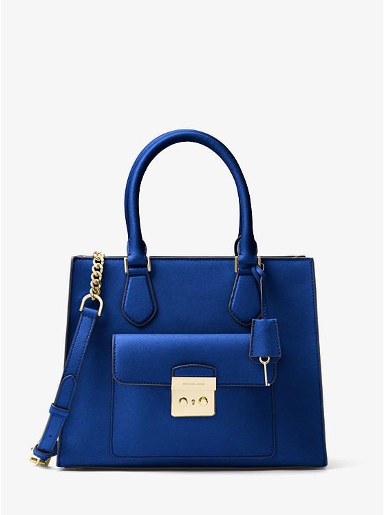 Сумка Michael Kors Bridgette Medium Saffiano Leather Tote blue 30T7GBDT2L