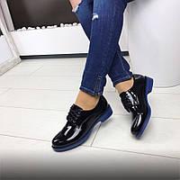 Женские туфли с синей подошвой 41р