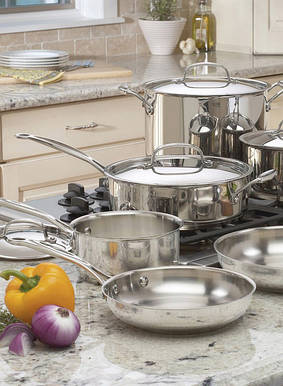 Наборы посуды, кастрюли, ковши, пароварки