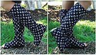 Модные стильные сапоги Луи Витон с открытым носком . Арт-0636