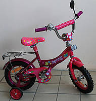 Велосипед для девочек детский двухколёсный розовый