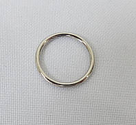Кольцо  цельн. мет. ник. d-1,5 см