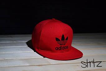 Снепбек Adidas красный черный лого (люкс копия)