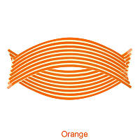 Светоотражающие полосы на диск колеса оранжевые
