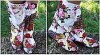 Женские весенне/осенние цветные стильные тканевые сапожки. Арт-0641
