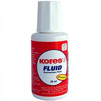 Корректирующая жидкость Kores FLUID с кисточкой, 20 мл K66101