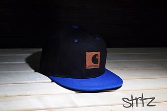 Снепбек Carhart черный с синим