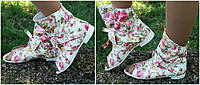 Женские цветные тефлоновые ботинки с бантиком. АРТ-0647