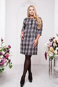 Платье с отделкой из экокожи больших размеров 48 50 54