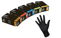 Перчатки нитриловые неопудренные черные NITRYLEX BLACK (черные)