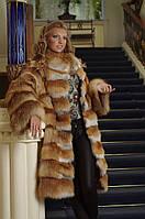 Шуба- жилет жилетка из лисы Рукава и подол отстежные  Fox fur coat and vest