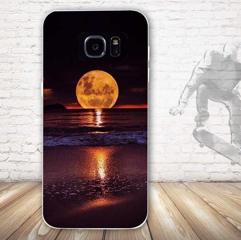 Оригинальный чехол бампер для Samsung Galaxy S7 с картинкой Закат