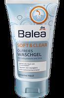 Очищающий гель для проблемной  кожи лица Balea Waschgel Soft & Clear ölfrei 150 мл