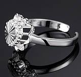 Кольцо Сердце PJ190/ бижутерия, покрытие серебро/ размер регулируется/ цвет серебро, фото 3