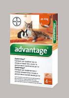 Капли Bayer Advantage (капли от блох) для кошек до 4кг