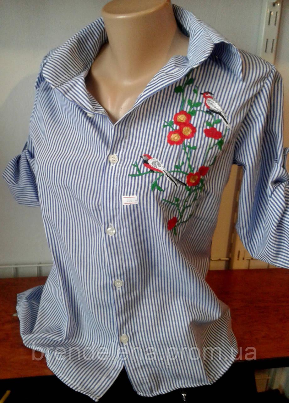 Рубашка женская голубая( р 44-48)