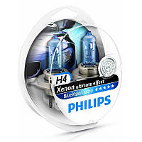 Автолампы H4 Philips Blue Vision Ultra 12V 60/55W