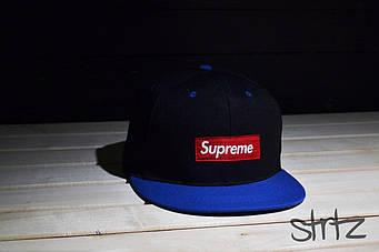 Снепбек Supreme черный с синим