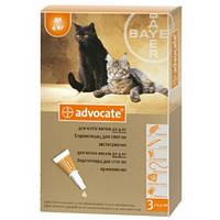Капли Bayer Advocate (капли от блох, клещей и глистов) для кошек и хорьков до 4кг
