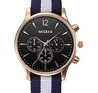 Кварцевые часы MiGeer (black-gold) - гарантия 6 месяцев
