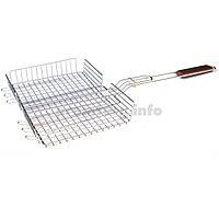 Решетка для гриля и барбекю из нержавеющей стали, малая и глубокая, 24х31х67см, вес 675г