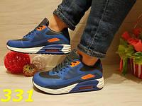 Женские яркие кроссовки аир макс сине-оранжевые, 36 37 38 39 40р.