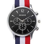 Часы MiGeer (black-silver) - гарантия 6 месяцев