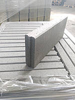 Бордюр-поребрик тротуарный с замком, двухсторонний серый.