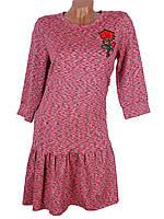 Свободное женское платье меланж (в расцветках)