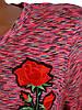 Свободное женское платье меланж (в расцветках 42-48), фото 3