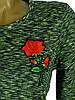 Свободное женское платье меланж (в расцветках 42-48), фото 8
