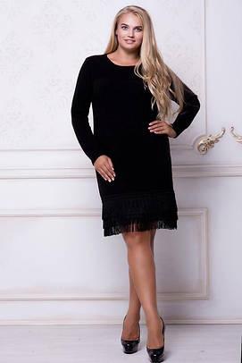 d0d75f838d1d Классическое черное платье больших размеров 48-58  продажа, цена в ...