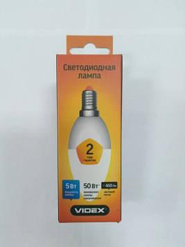 Світлодіодна лампа Videx VL-C37e-05143(5W LED С37 3000K 220V 460Лм)