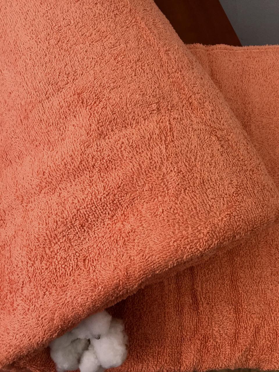 Махровая простынь персиковая 150х200 Пакистан