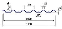 Профнастил ПК35 0,45мм оцинк Україна
