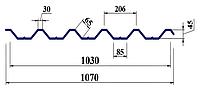 Профнастил ПК45 0,45мм мат поліестер Словаччина