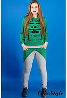 Молодежный спортивный костюм Далия зеленый Olis-Style 46-52 размеры