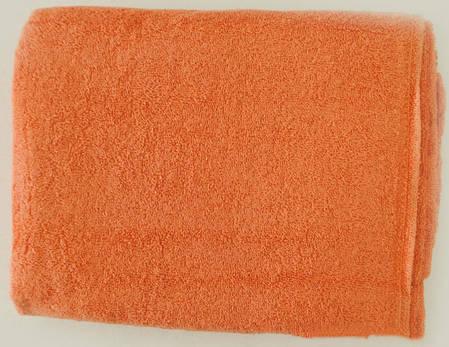 Махровая простынь персиковая 150х200 Пакистан, фото 2