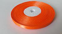 Лента атласная Оранжевый, 6 мм