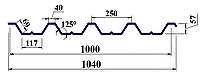 Профнастил ПК57 0,5мм оцинк Україна