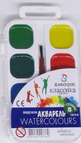 Краска акварель 8 цв.30мл + кисть - Online Market Plus в Одессе