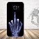 Бампер силиконовый чехол для Samsung Galaxy S7 edge с картинкой Девушка с тату, фото 3