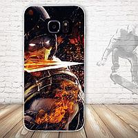 Бампер силиконовый чехол для Samsung Galaxy S7 edge с картинкой Воин