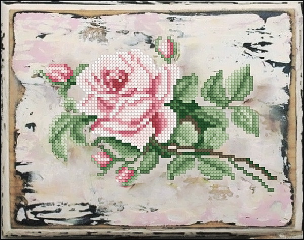 Набор для вышивания крестиком Роза 1